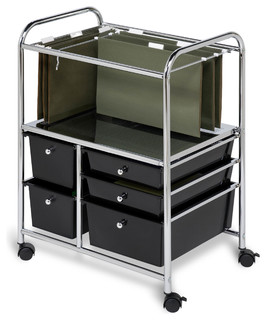 5-Drawer Hanging File Cart - Filing Cabinets - by Honey Can Do
