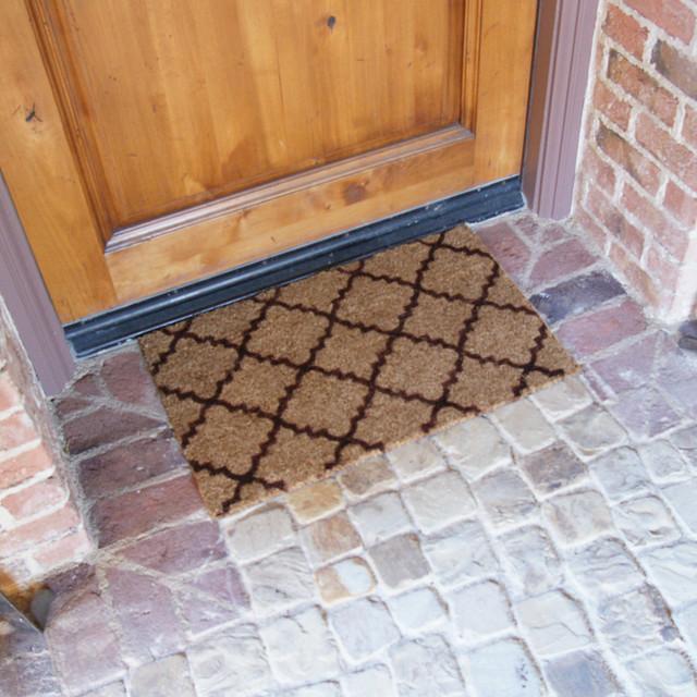 Rubber-Cal Casablanca Brown -  Outdoor Coco Mats - 18x30.