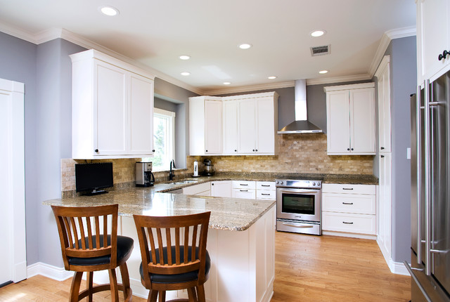 Traditional White Kitchen Mdf Paint Traditional