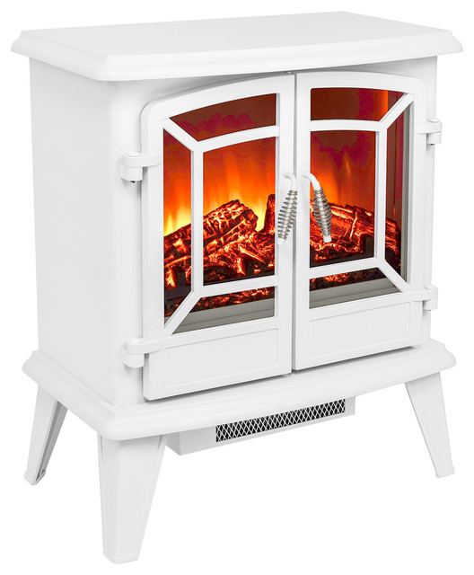 "This AKDY 20"" portable electric fireplace brings a beautiful modern contemporary style to your home. Turn on the electric fireplace"
