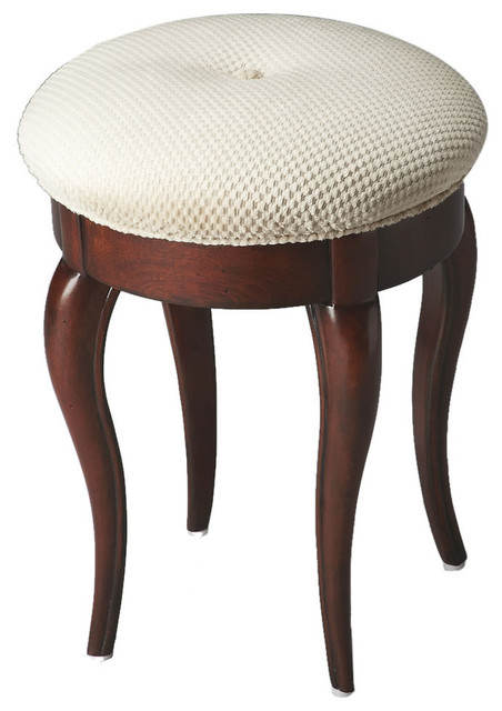 Vanity Stool Finish Type Light Plantation Cherry Vanity