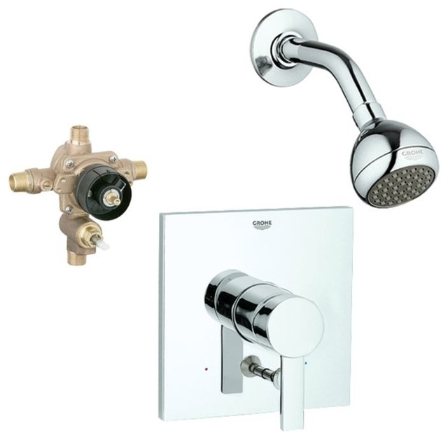 Allure Shower Valve Kit Chrome Contemporary Tub And Shower Faucet Sets