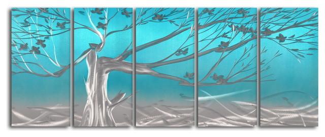 metal wall art decor abstract contemporary modern sculpture metallic