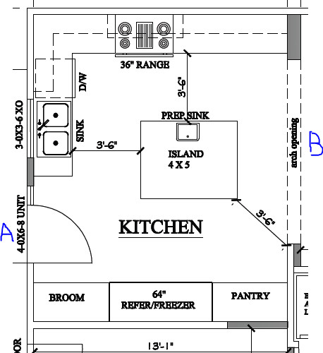 kitchen floor plans islands island kitchen floorplan critique 4809