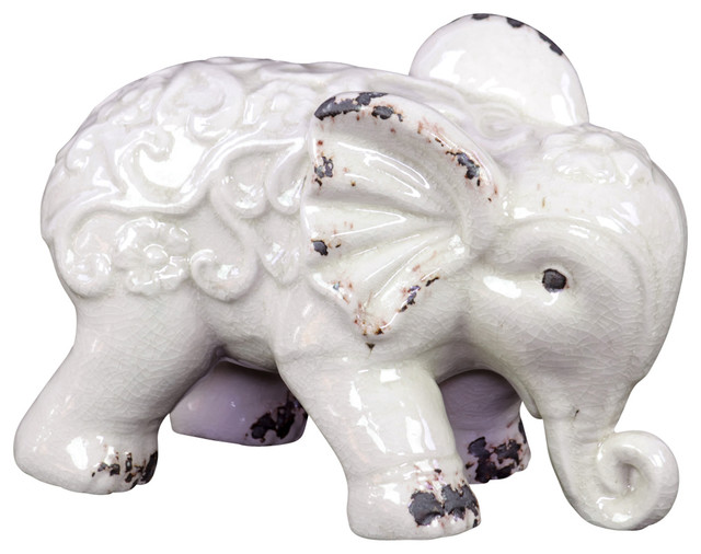 Urban Trends Collection Ceramic Standing Elephant