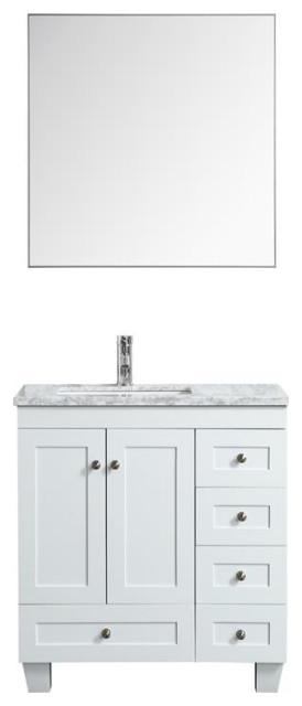 Eviva Happy 30 X18 Wood Bathroom, All Wood Bathroom Vanities