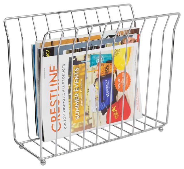 Super Free Standing Magazine Rack Chrome Download Free Architecture Designs Scobabritishbridgeorg