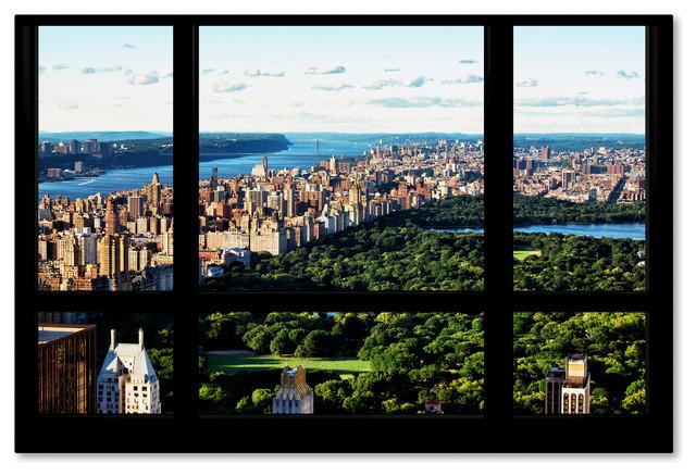 Philippe Hugonnard &x27;central Park Window View&x27; Canvas Art, 47x30.