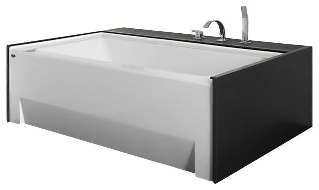 """neptune 66""""x36"""" zora alcove rectangular bathtub with skirt"""