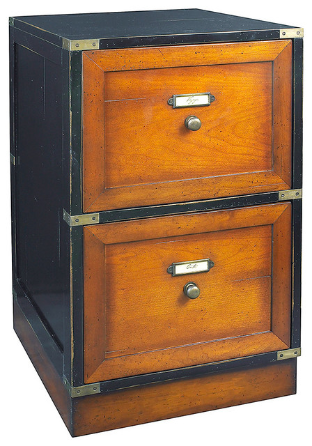 Mobile File Cabinet With Hidden Wheels, Black.