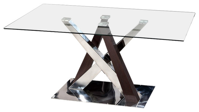 Global Furniture Rectangular Abstract Dining Table.