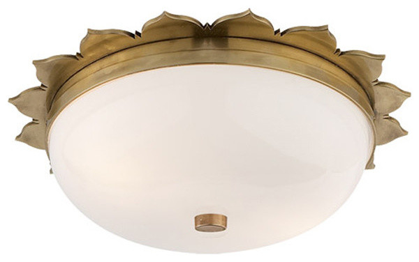 Alexa Hampton Rachel 2 Light Flush Mount Natural Br