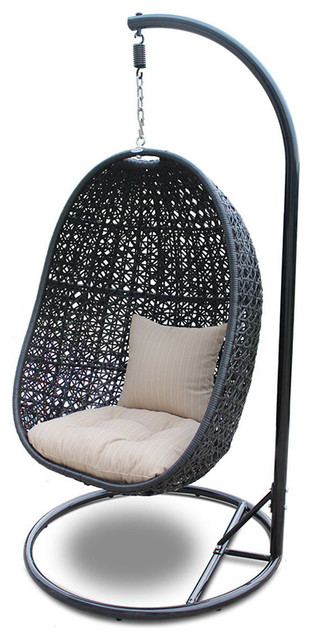 Nimbus Modern Outdoor Hanging Basket Chair With Stone Cushions  sc 1 st  Houzz & Nimbus Modern Outdoor Hanging Basket Chair With Stone Cushions ...