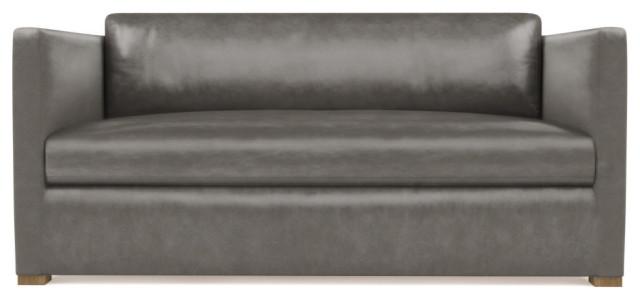 Madison 5' Vintage Leather Loveseat, Pumice, Extra Deep