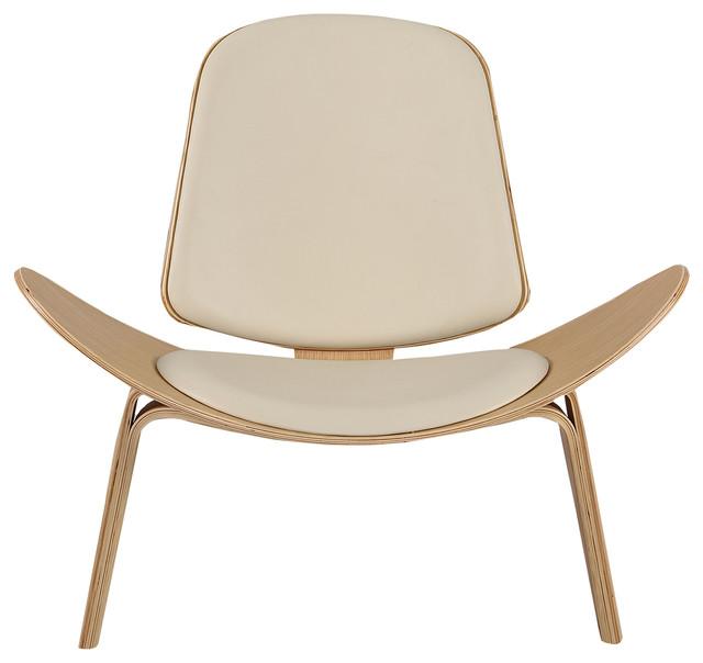 Tripod Plywood Modern Lounge Chair, Genuine Italian