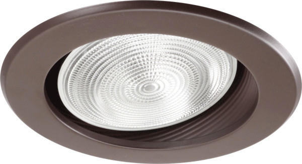"""6 Inch Par30 Adjustable Gimbal Ring Trim White Recessed: NICOR 6"""" Recessed Baffle Trim For Sloped Ceilings"""