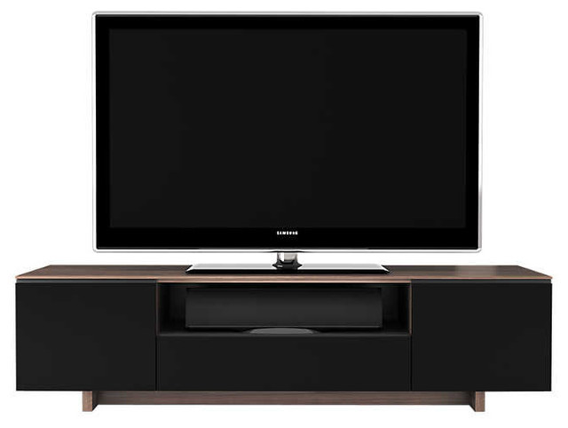 Nice Nora Slim TV Stand By BDI, Walnut, Flat Panel TV Mount, With Cabinet