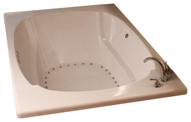 Atlantis Tubs 4878car Charleston 48x78x23 Inch Rectangular Air Jetted Bathtub.