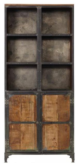 Industrial Mango Wood Cabinet Industrial Storage