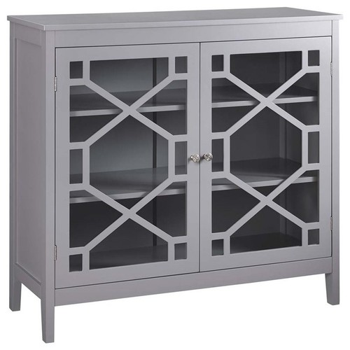 Pemberly Row 38 Curio Cabinet in Gray