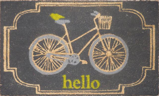 Allen + Roth Bleached Printed Rectangle Doormat