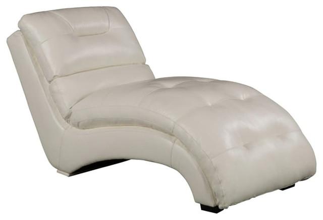Savannah Faux Leather Chaise Lounge, Gray.