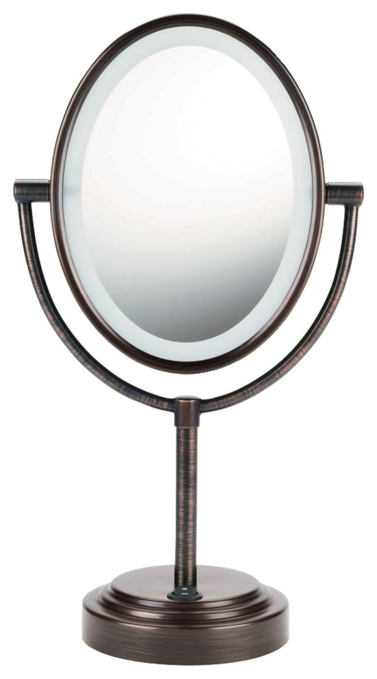 Conair Be47br Double Sided Lighted Mirror Oiled Bronze