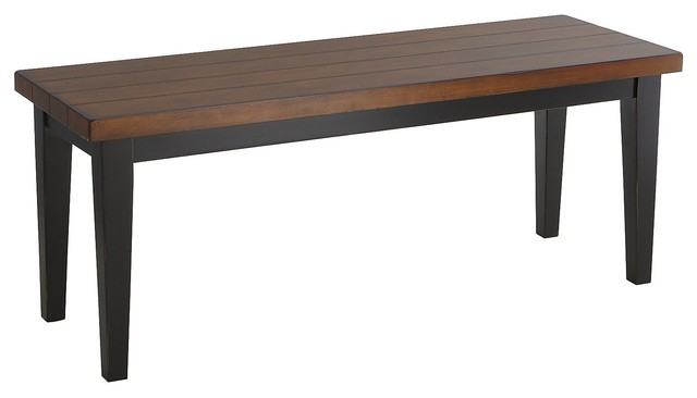 Carmichael Bench Black Traditional Dining Benches
