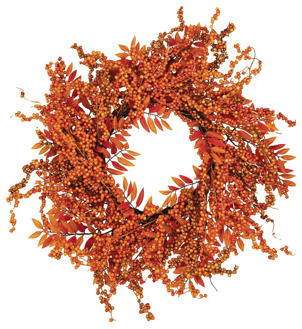"18"" Fall Berry Fern Wreath"
