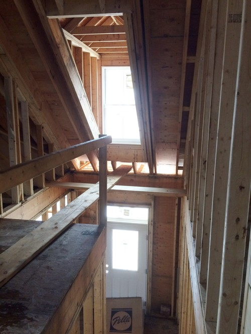 Narrow Two Story Foyer : Lighting for tiny two story foyer with dormer