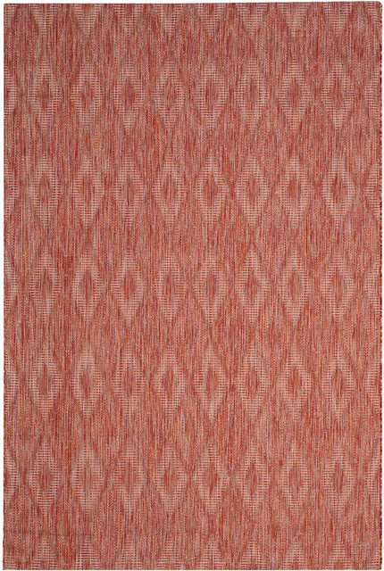 Safavieh Courtyard Cy8522-36522 Red, Red Area Rug, 9&x27;x12&x27;.