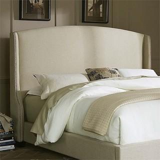 Liberty Furniture Linen Upholstered Queen Wing Headboard, Natural