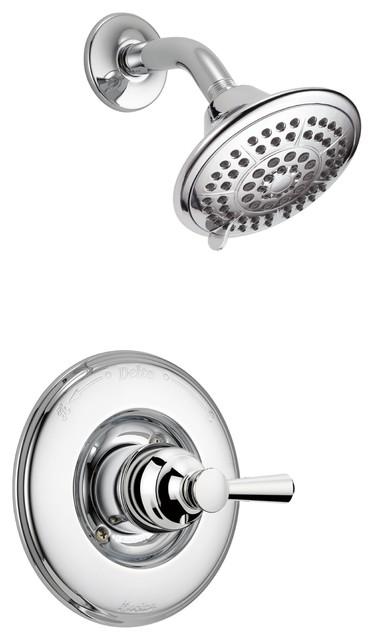 Delta Linden Chrome Single Lever Handle Shower Only Faucet With Valve D2431V