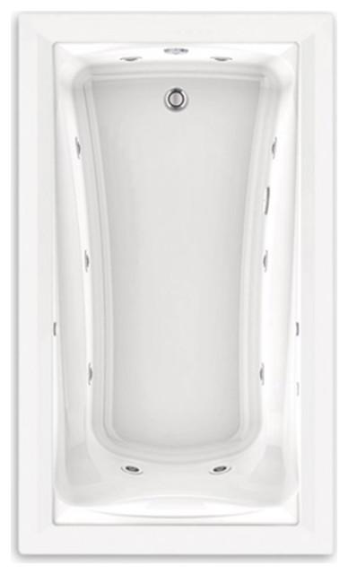 American Standard 60 Inch by 36 Inchl EcoSilent Whirlpool Bathtub, 3571048WC.020