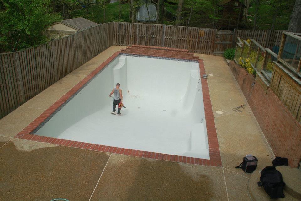 Installation of Gunite Swimming Pool (After Renovation)