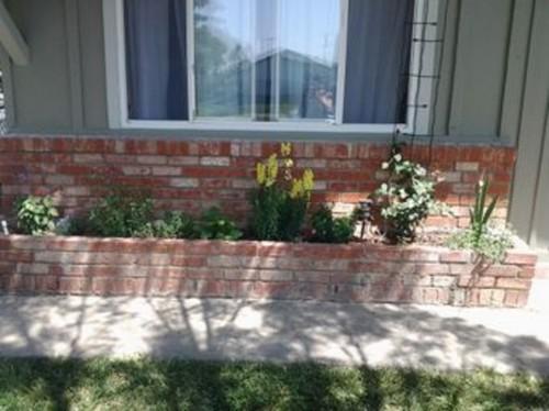 how to build a brick planter box for a garden