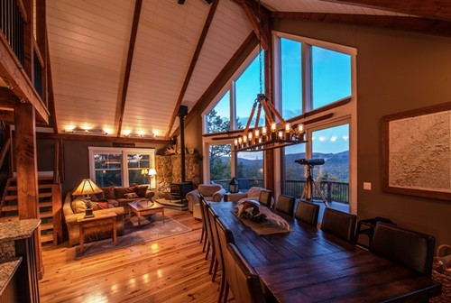 we've just added a smaller post and beam mountain lodge style home