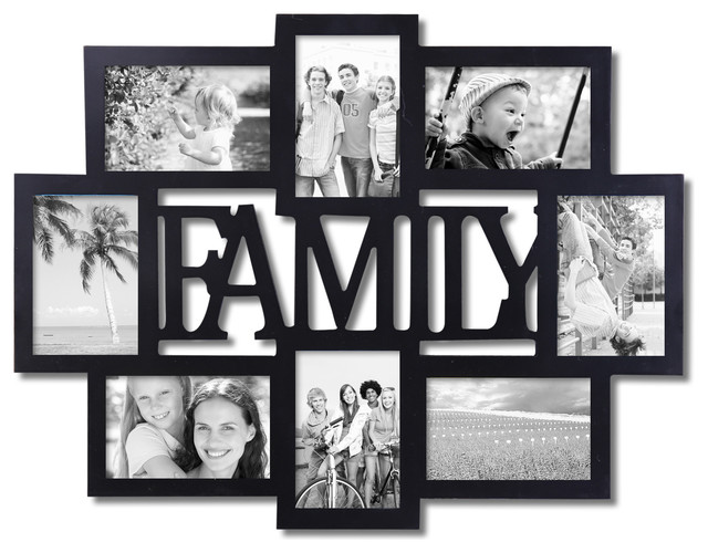 Family 8 Opening Collage Frame Contemporary Picture