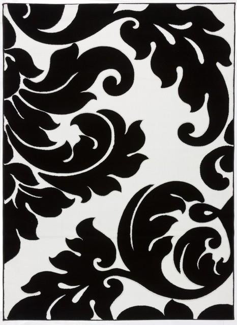 Nice Melody Vines Damask Black U0026 White 5u00273