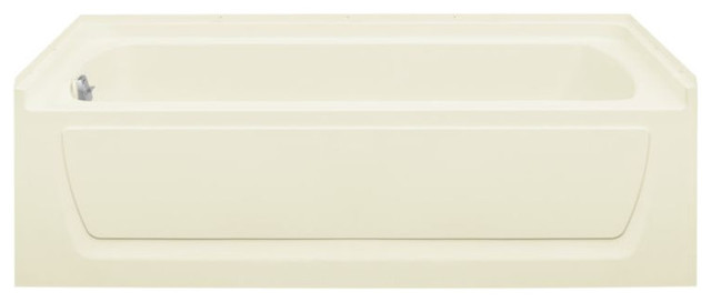 "Sterling Ensemble 32""x60""x74"" Vikrell Left-Hand Bath, Biscuit."