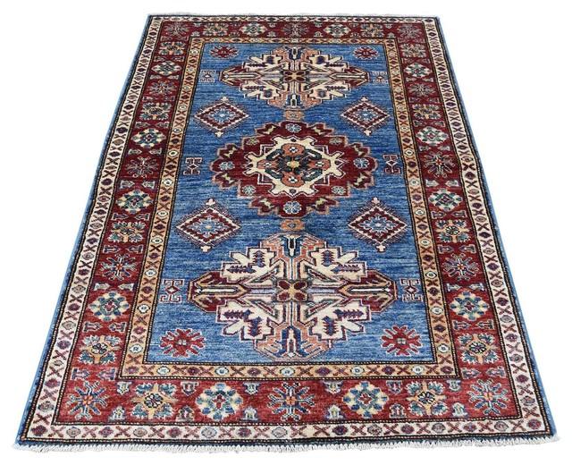 3 X5 Kazak Caucasian Design Wool Oriental Rug Southwestern Area