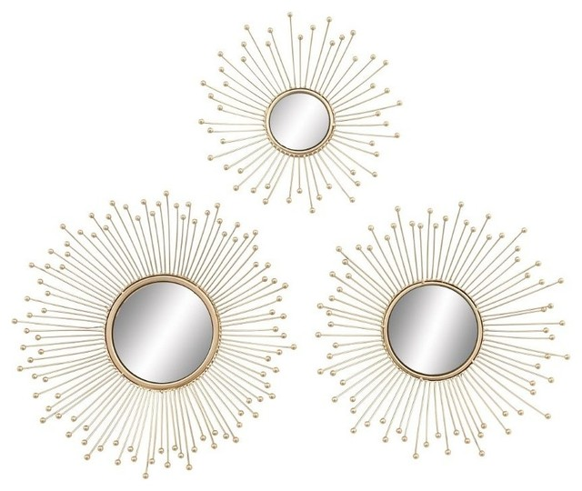 Brimfield & May - Aster 3-Piece Metal and Mirror Wall Decor Set ...