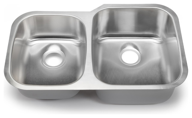 hahn chef series 40-60 double bowl, undermount - traditional