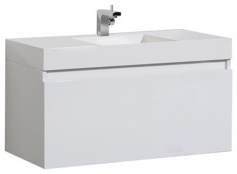 "St. Lucie Bathroom Vanity Set, White, 39""."