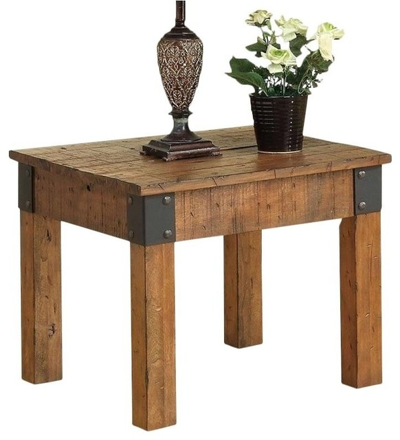 Bowery Hill Square End Table Rustic Oak