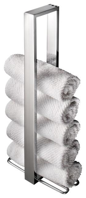 ws bath collections skuara vertical towel holder contemporary