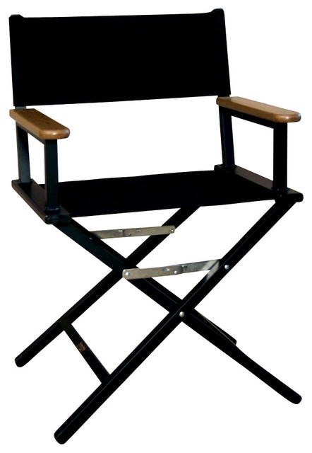 folding aluminum director s chair in jet black