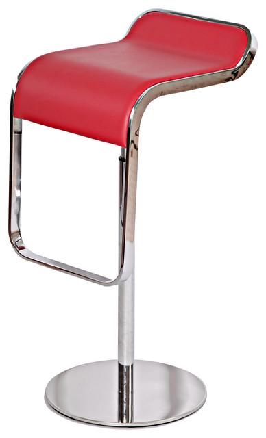 Lem Style Adjustable Piston Bar Stool Red Italian