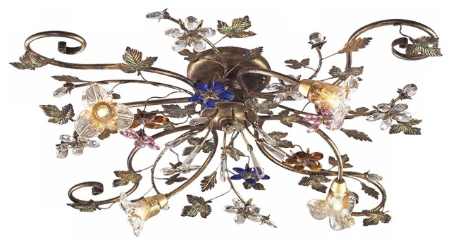 Elk Lighting Brillare Transitional Flush Mount Ceiling Light X-4/5019.