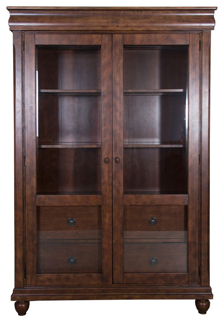 Liberty Furniture Rustic Tradition Display Cabinet Cherry Traditional China Cabinets And Hutches By Quality S